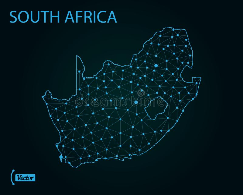 南非洲的映射 也corel凹道例证向量 例证映射旧世界 皇族释放例证
