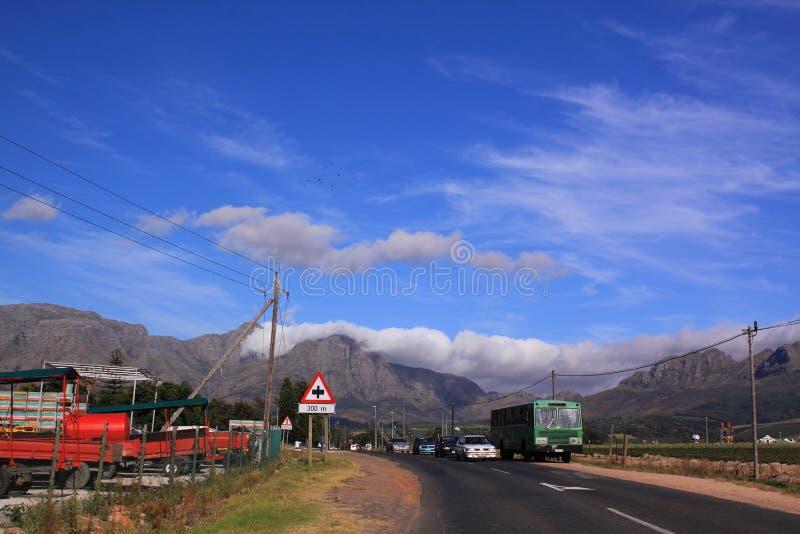 南非洲的路 免版税库存图片
