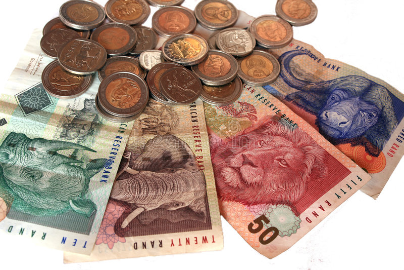 南非洲的currency3 库存照片