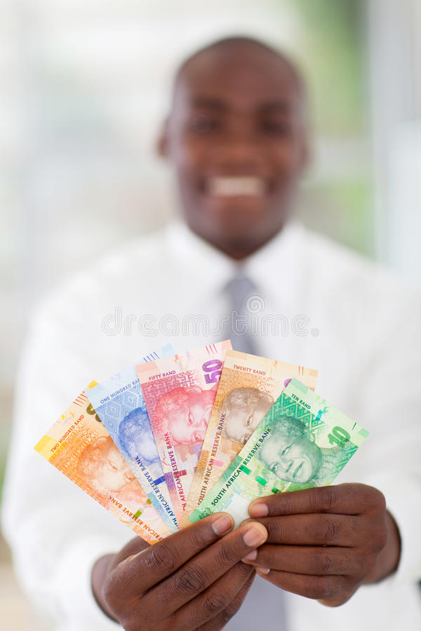 南非生意人 免版税库存照片