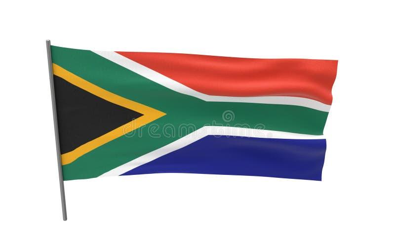 南非的旗子 库存照片
