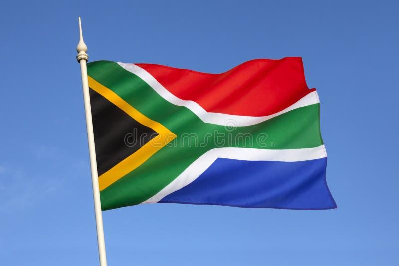 南非的旗子 免版税库存图片
