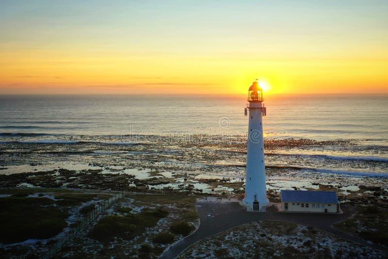 南非西开普科梅杰斯兰科普灯塔 免版税图库摄影