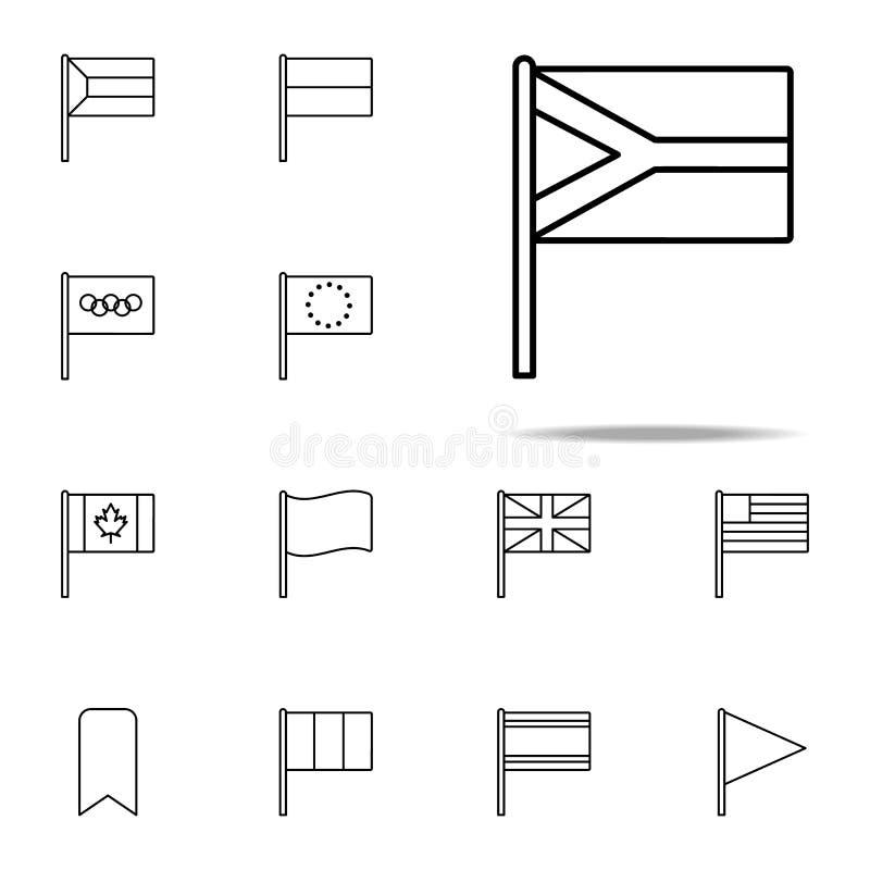 南非象 网和机动性的旗子象全集 库存例证