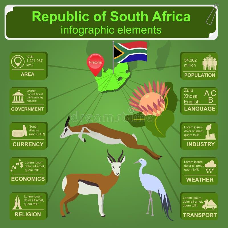 南非infographics,统计数字,视域 向量例证