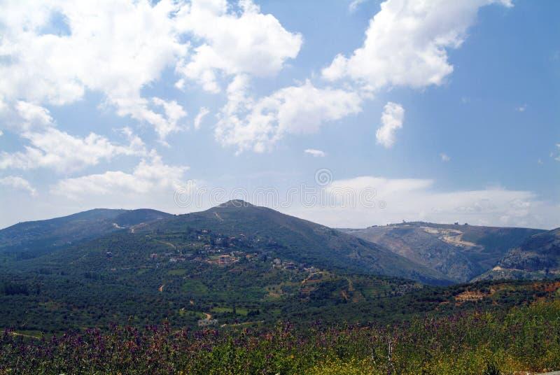 南黎巴嫩看法在Beaufort烈士城堡附近的 免版税库存照片