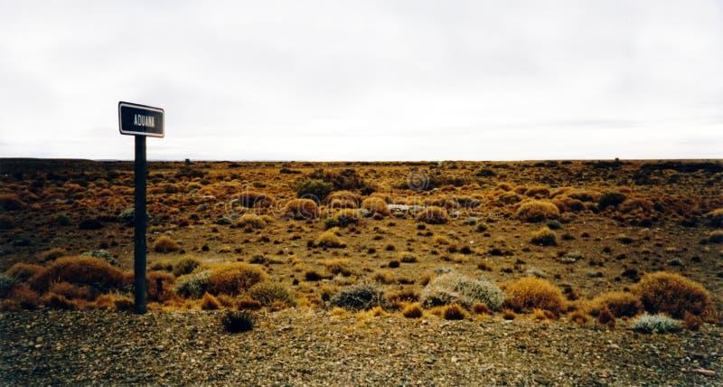 南aduana美国边界沙漠的过帐 免版税库存照片