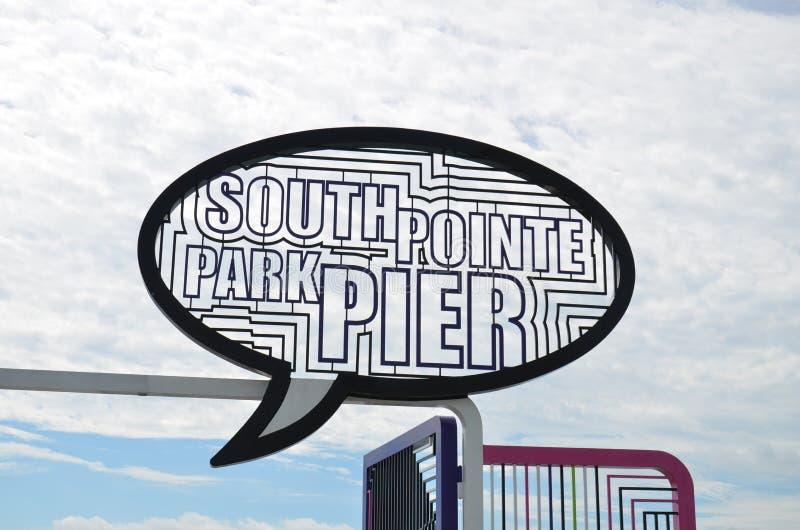 南Pointe公园梨迈阿密海滩 库存图片