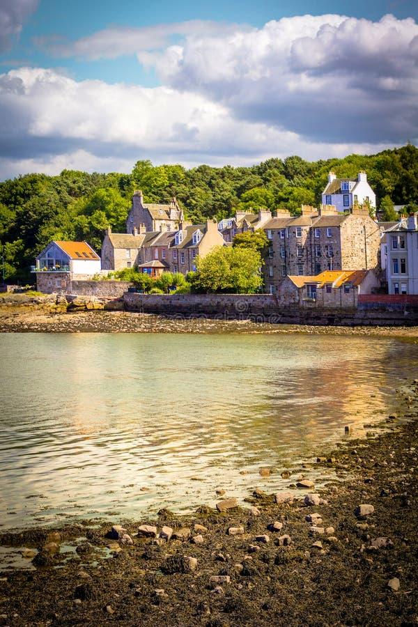 南Queensferry全景在爱丁堡,苏格兰,英国附近的 免版税库存图片