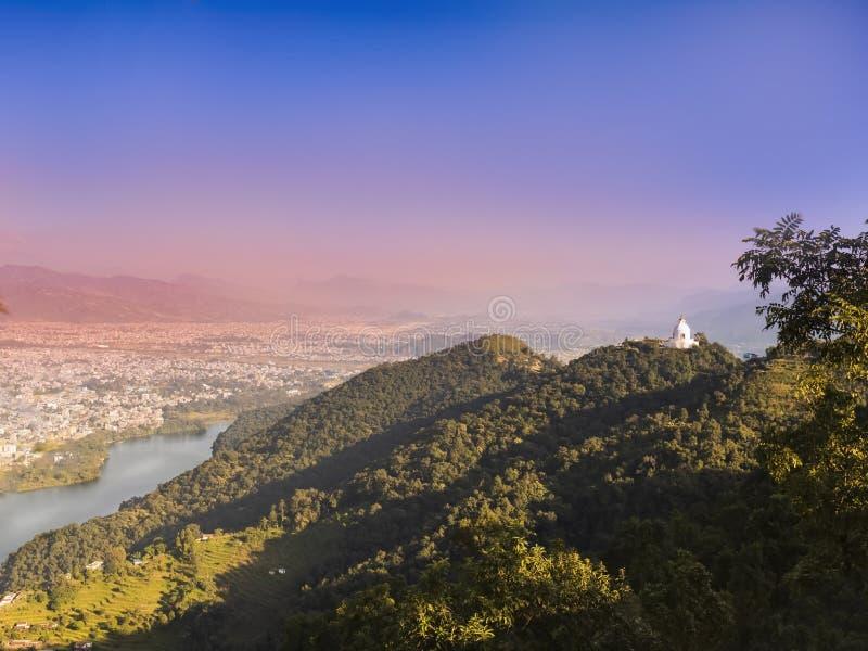 博克拉谷一幅全景, 免版税库存图片