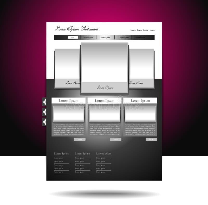 博克设计发光的网站 库存例证