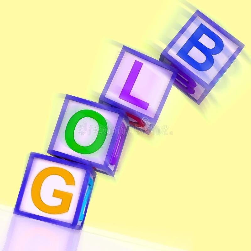 博克词展示博客作者互联网和适当位置 向量例证