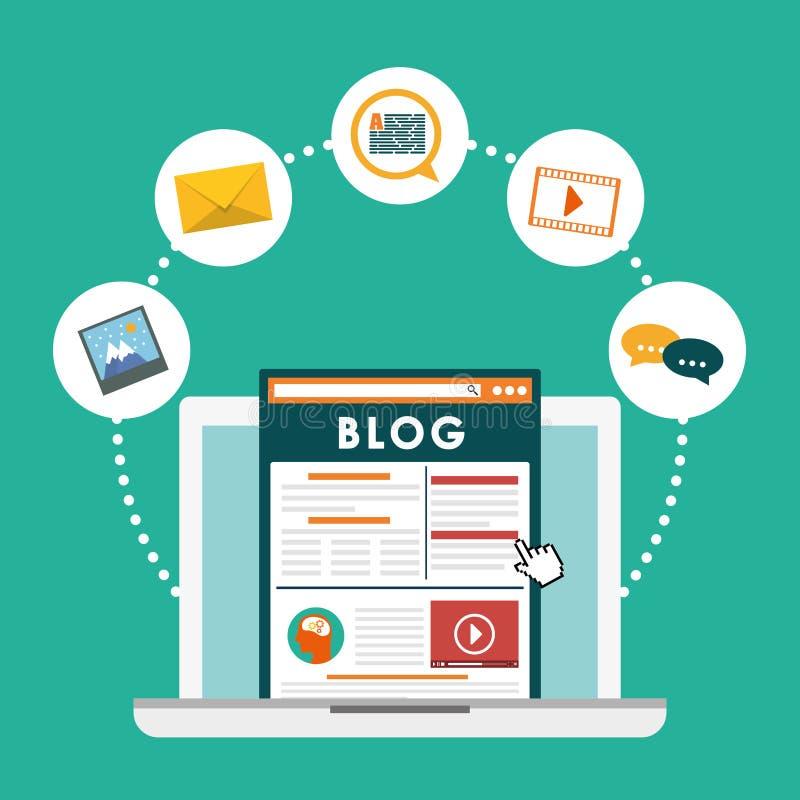 博克, blogging和blogglers题材 皇族释放例证