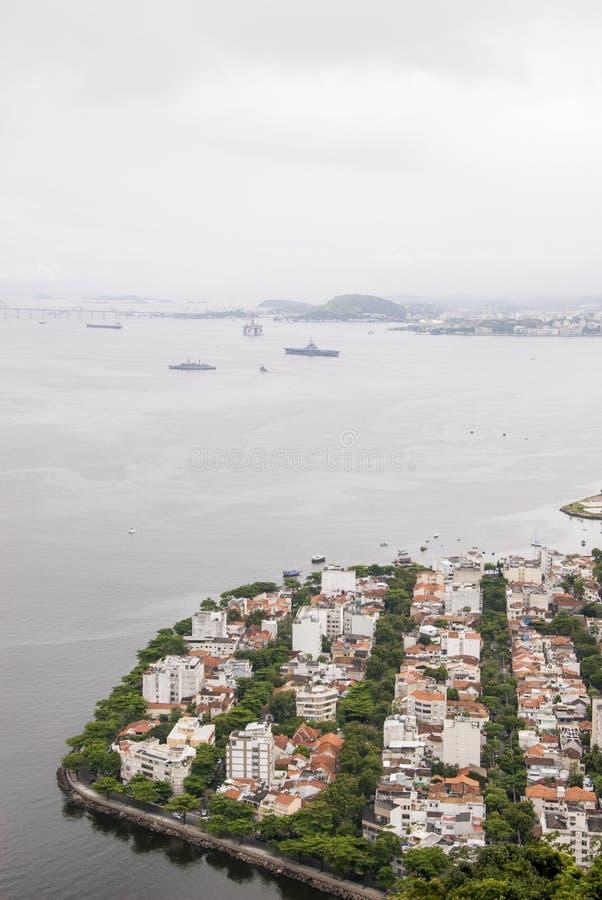 博塔福戈小海湾的看法在里约热内卢 库存图片