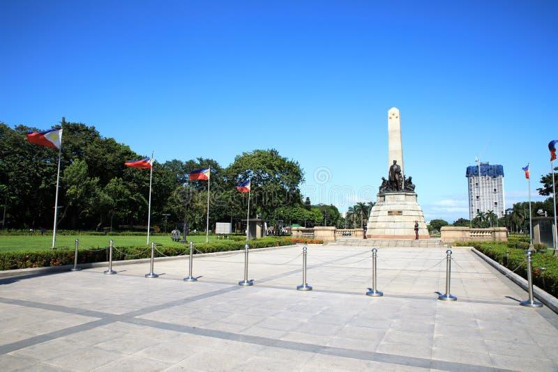 博士 何塞里扎尔纪念碑 免版税图库摄影