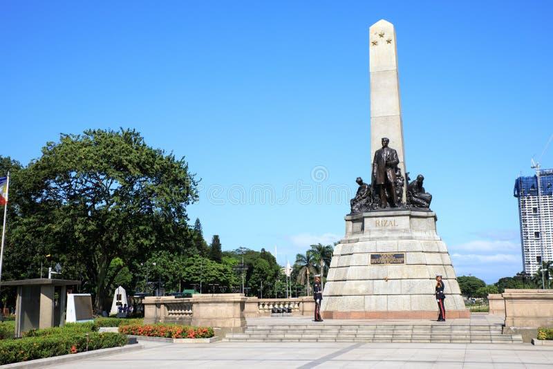 博士 何塞里扎尔纪念碑 免版税库存照片