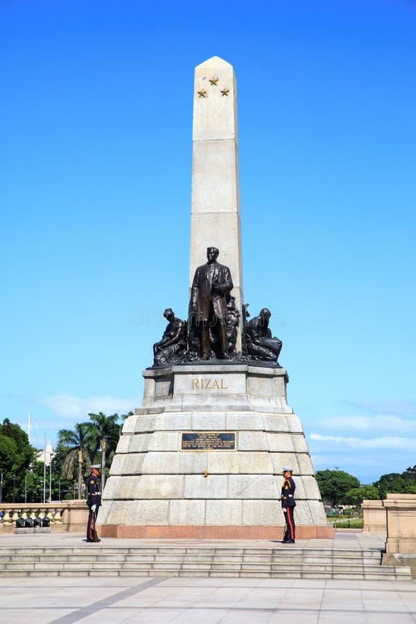 博士 何塞里扎尔纪念碑 库存图片