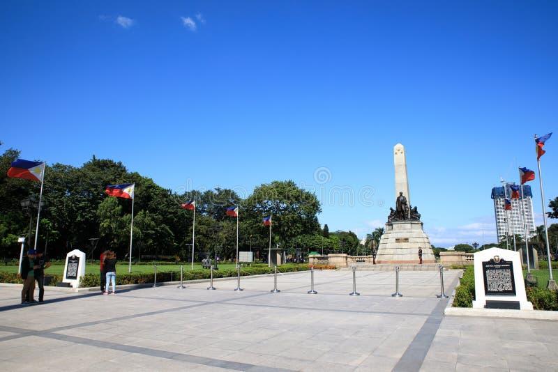 博士 何塞里扎尔纪念碑 免版税库存图片