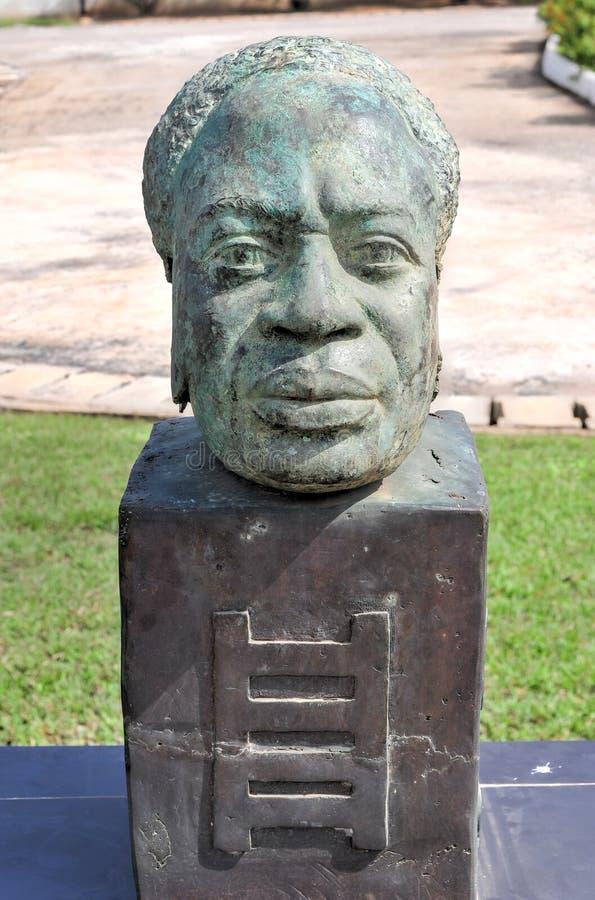 博士 夸梅・恩克鲁玛胸象-阿克拉,加纳 免版税图库摄影