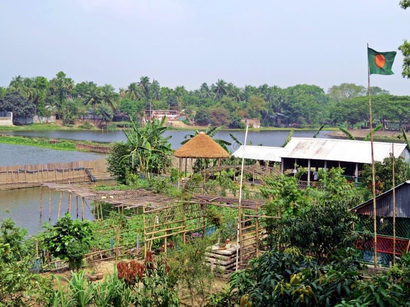 博多河在Kushtia,孟加拉国 免版税库存照片