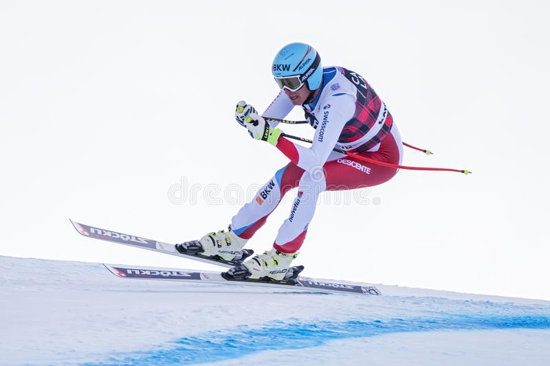博尔米奥freeride滑雪世界杯12/28/2017 库存图片