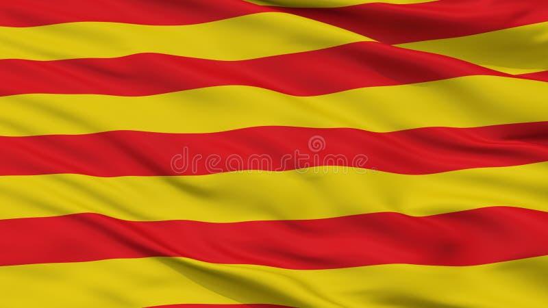 博尔赫隆市旗子,比利时,特写镜头视图 库存例证