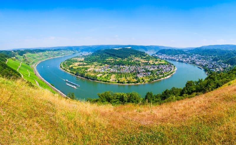 博帕尔德镇鸟瞰图,德国 免版税库存图片