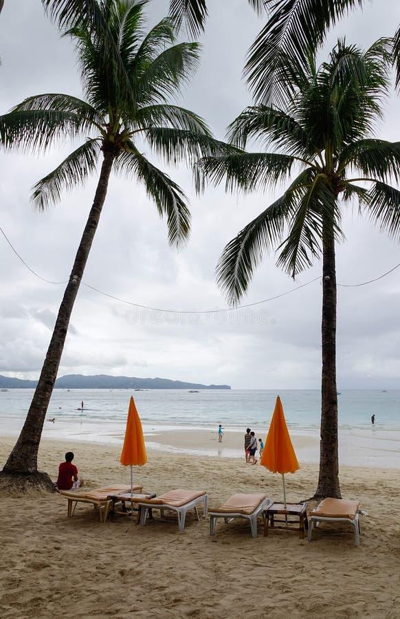 博拉凯海岛,菲律宾 库存图片