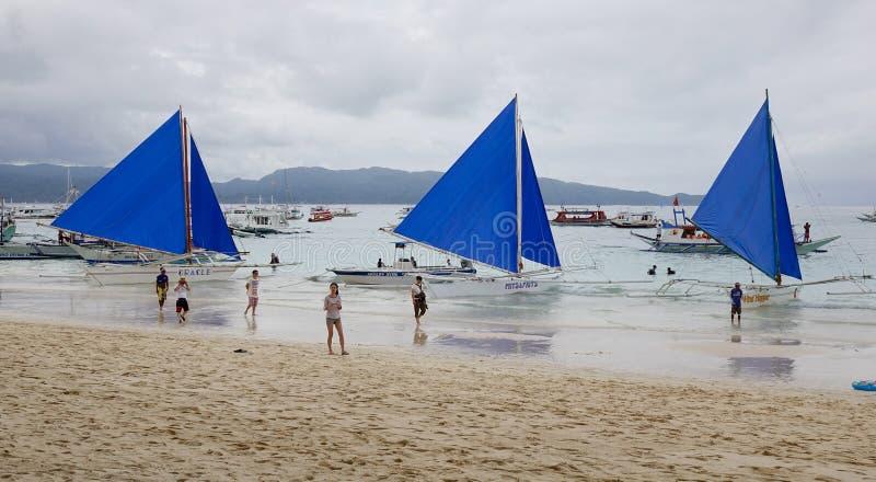博拉凯海岛,菲律宾 免版税库存照片