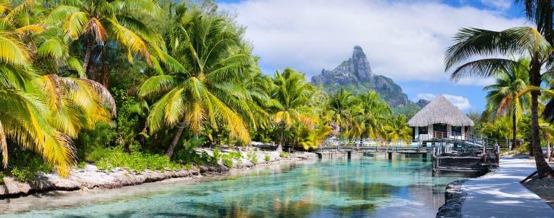 博拉博拉岛全景 免版税库存图片