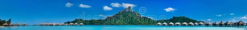 博拉博拉岛全景 库存照片