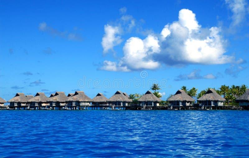 博拉博拉岛豪华海滩胜地 库存照片