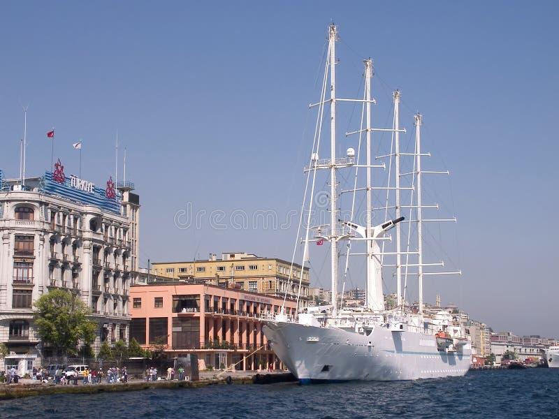 博斯普鲁斯海峡伊斯坦布尔端口火鸡 库存照片