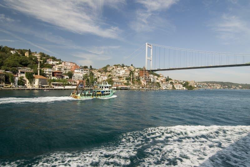 博斯普鲁斯海峡桥梁 库存图片