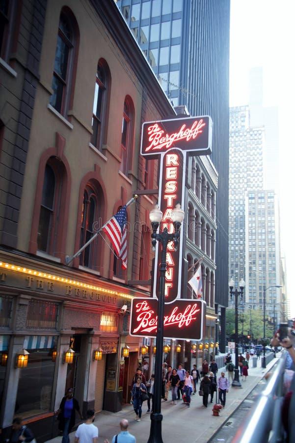 博格霍夫餐馆,芝加哥,伊利诺伊 库存图片