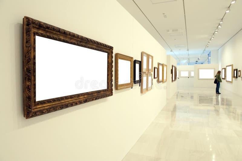 博物馆人 免版税库存照片
