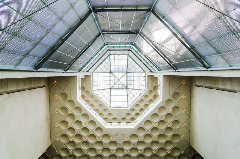 博物馆伊斯兰教的艺术,多哈卡塔尔屋顶  2017年7月 库存图片