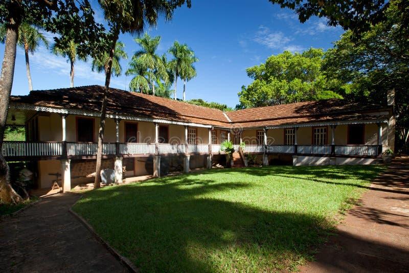 博物馆咖啡在里贝朗普雷图-巴西 2017年7月 免版税库存照片