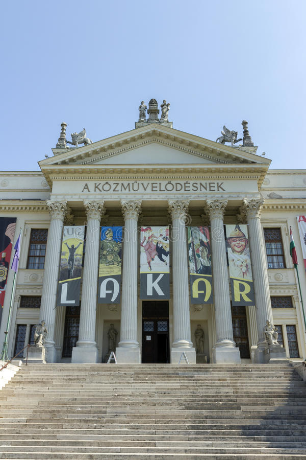 博物馆在塞格德,匈牙利 库存照片