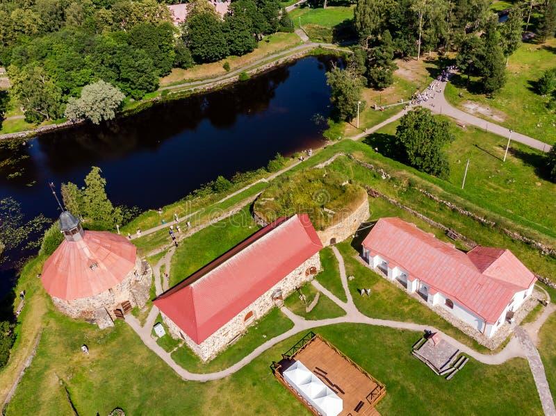 博物馆堡垒'Korela'位于普里奥焦尔斯克,列宁格勒地区,俄罗斯 库存图片