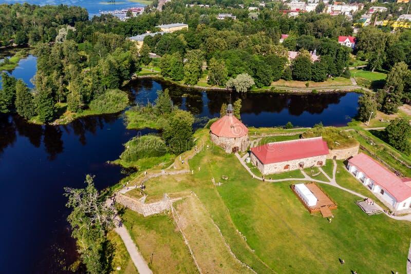 博物馆堡垒'Korela'位于普里奥焦尔斯克,列宁格勒地区,俄罗斯 库存照片