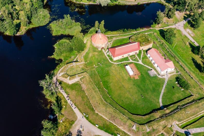 博物馆堡垒'Korela'位于普里奥焦尔斯克,列宁格勒地区,俄罗斯 免版税库存图片