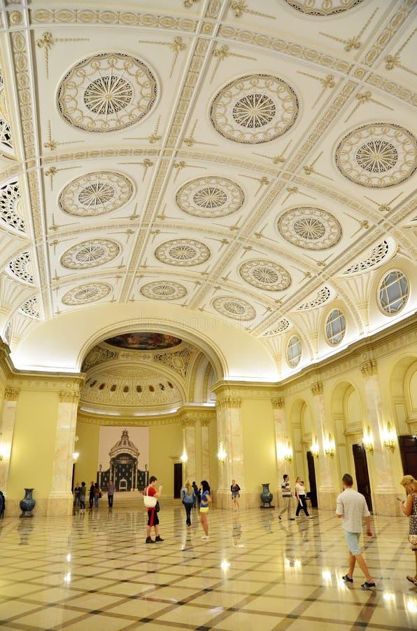 博物馆夜在布加勒斯特-全国艺术馆罗马尼亚的 库存照片