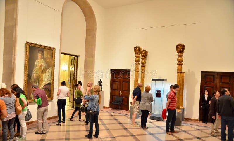 博物馆夜在布加勒斯特-全国艺术馆罗马尼亚的 免版税图库摄影