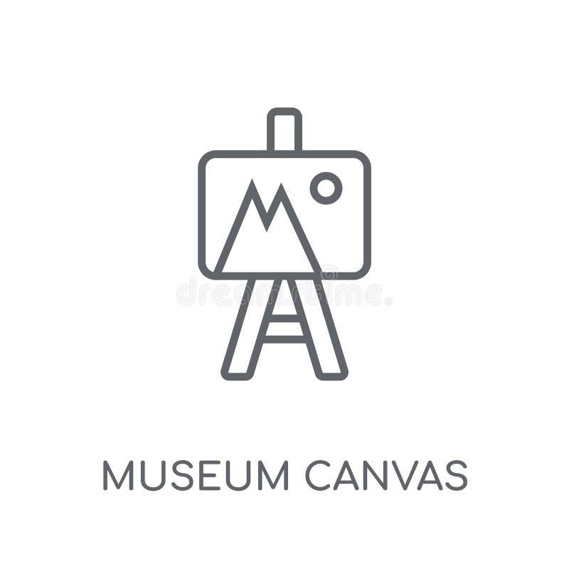 博物馆帆布线性象 现代概述博物馆帆布商标骗局 向量例证