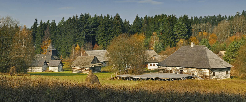 博物馆斯洛伐克村庄 库存图片