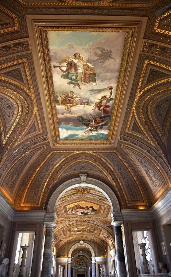 博物馆梵蒂冈 免版税库存照片