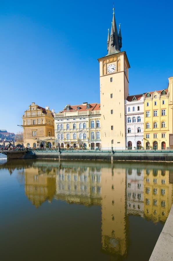 博物馆老布拉格smetana塔城镇水 库存照片
