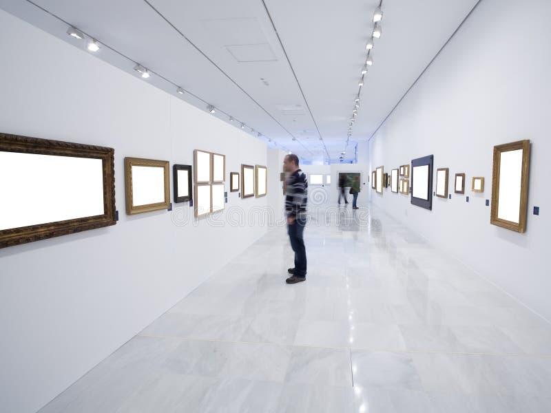 博物馆访客 免版税库存照片