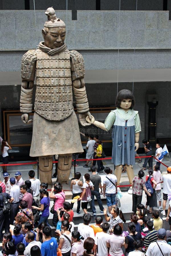 博物馆赤土陶器战士县 免版税库存照片